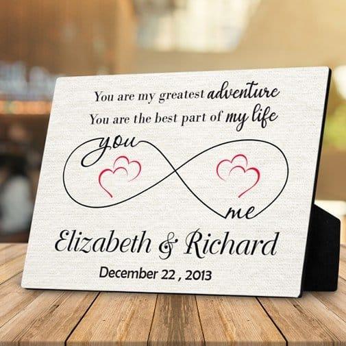You Are My Greatest Adventure Custom Desktop Plaque