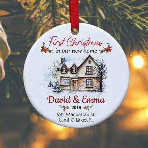newlyweds christmas gifts: Christmas Ornament