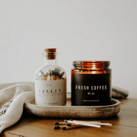 Fresh Coffee Soy Wax Candle