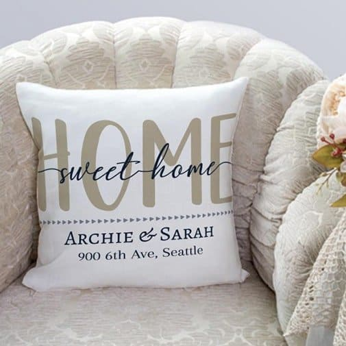 christmas gift ideas for newlyweds:Home Pillow