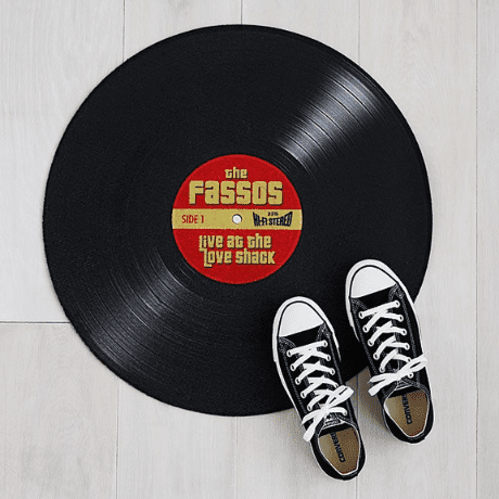 Personalized Record Doormat - gifts for wife