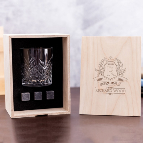 Whisky Glass Set with Whiskey Stones