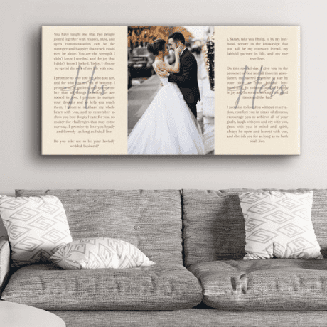 Wedding Vows His-Her Photo Canvas Print