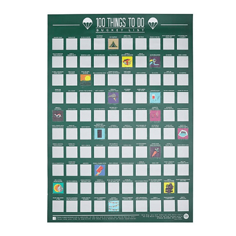 100 Things To Do Scratch Off Poster - One year anniversary gifts for boyfriend