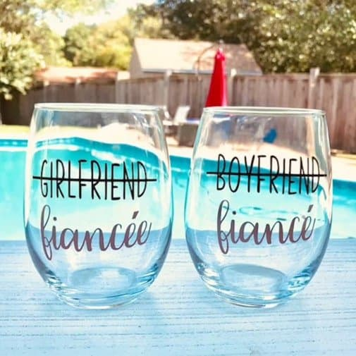 Couples Wine Glass Set