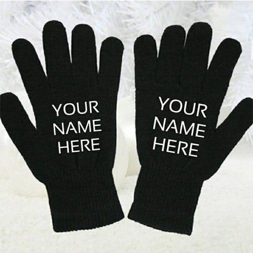 first christmas gift for boyfriend: Custom Name Gloves