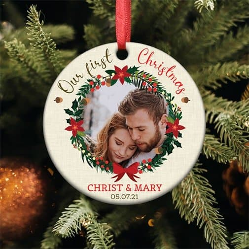 christmas gift for fiance: First Christmas Ornament