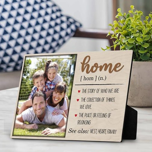 Home Definition Custom Desktop Photo Plaque