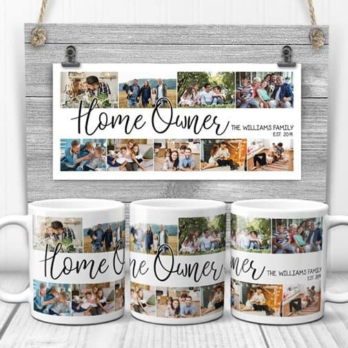 gifts for first time homeowners: r Custom Photo Collage Mug