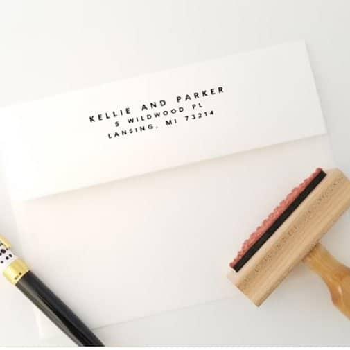 Housewarming Address Stamp