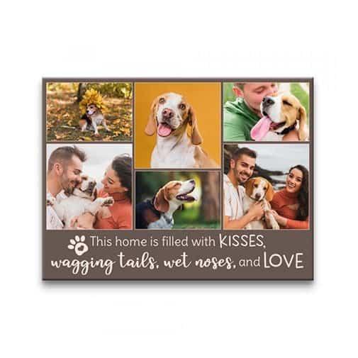 Love Pet Photo Collage Canvas Print