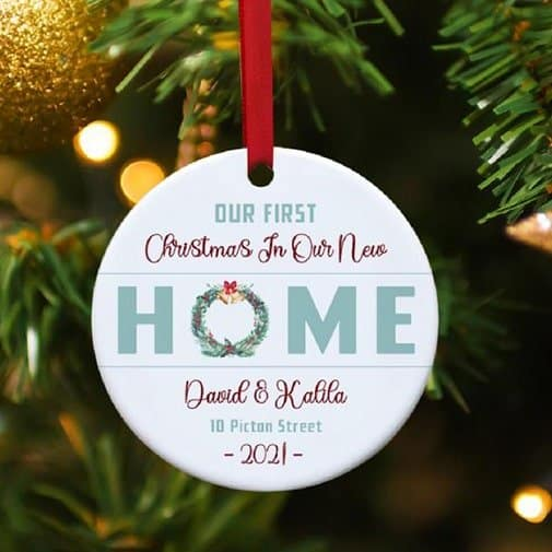 welcome gifts: Our New Home Custom Ornament