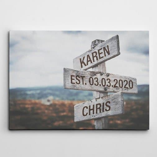 Personalized Street Sign Canvas Print1