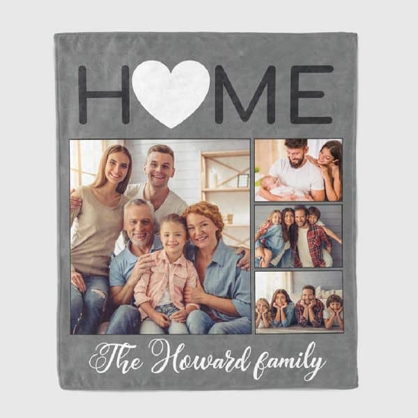gifts for new homeowners: Home Photo Collage Blanket
