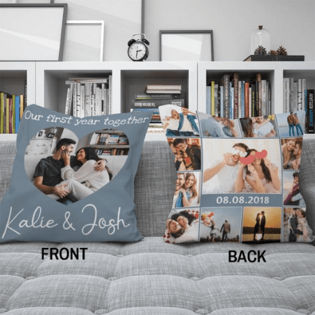 Custom Photo Collage Suede Pillow