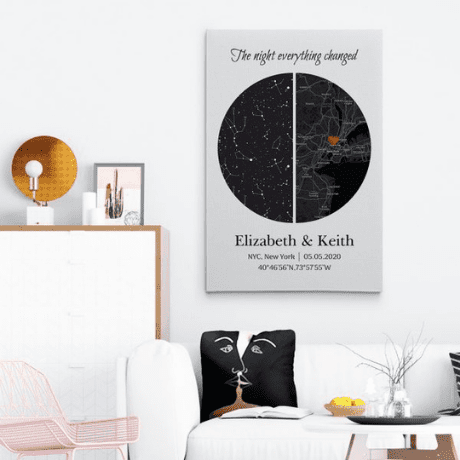 """""""The Night Everything Changed"""" Star Map Print"""